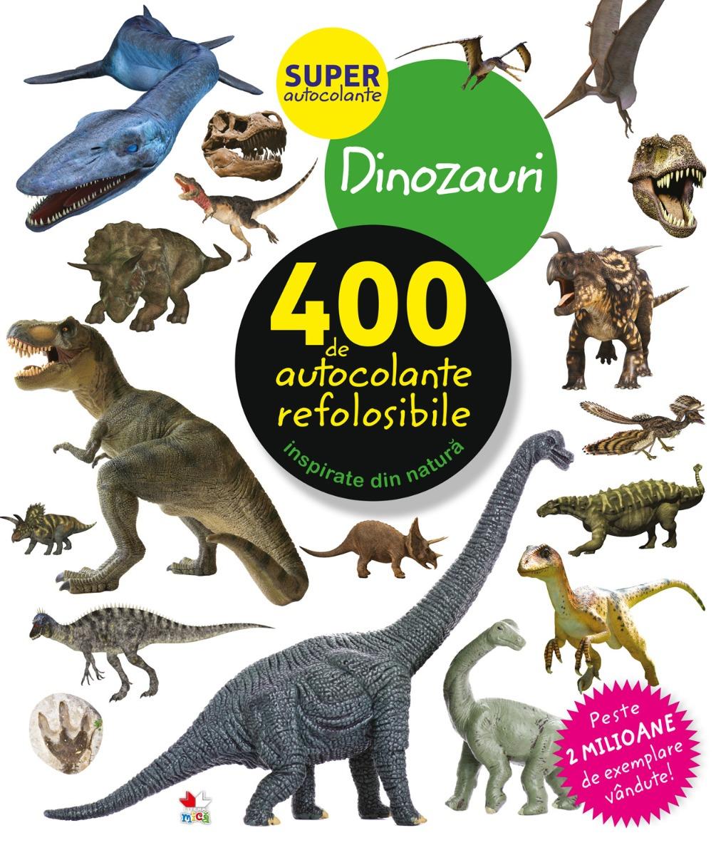 Autocolante refolosibile, dinozauri - Editura Litera