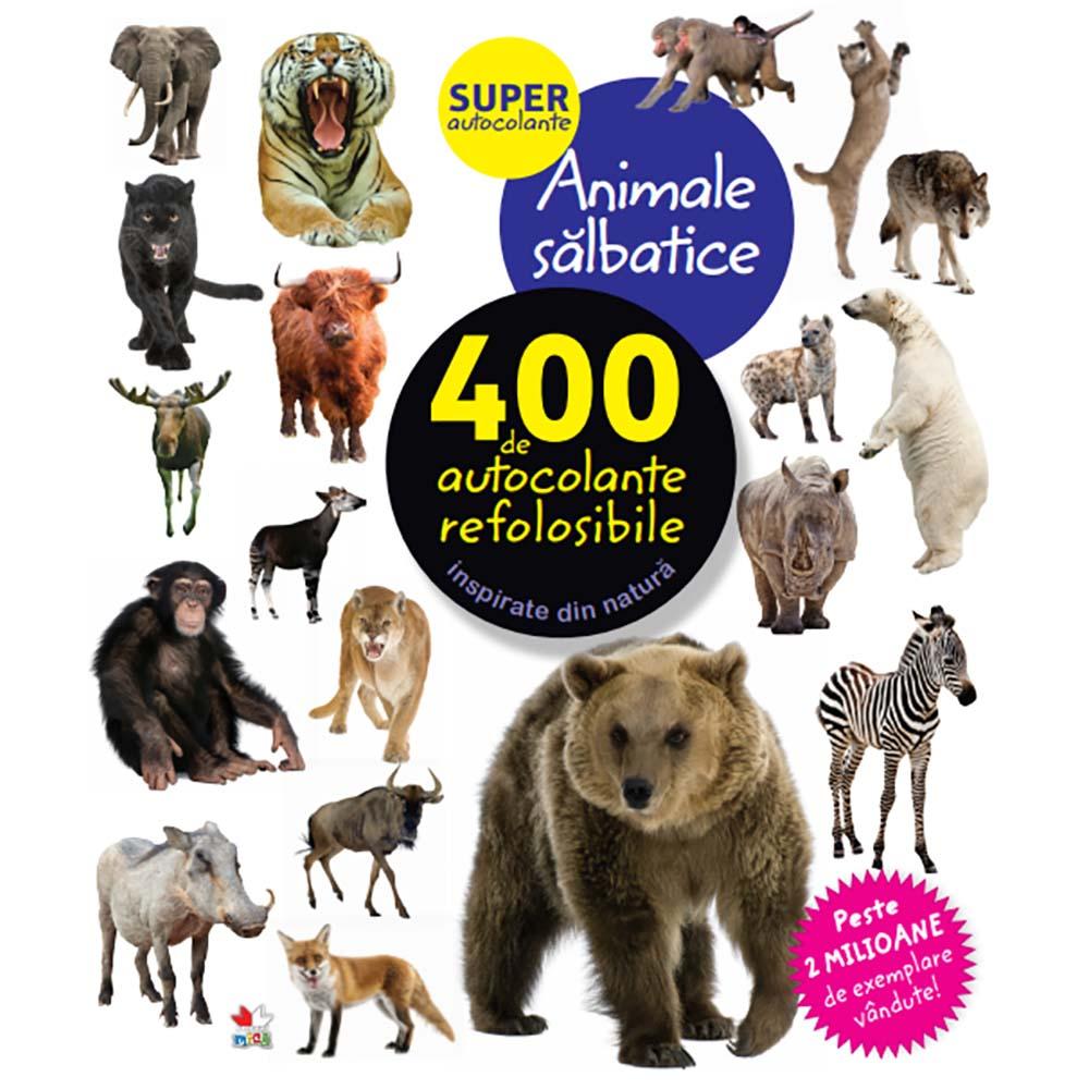 Carte Editura Litera, Animale salbatice. 400 de autocolante refolosibile