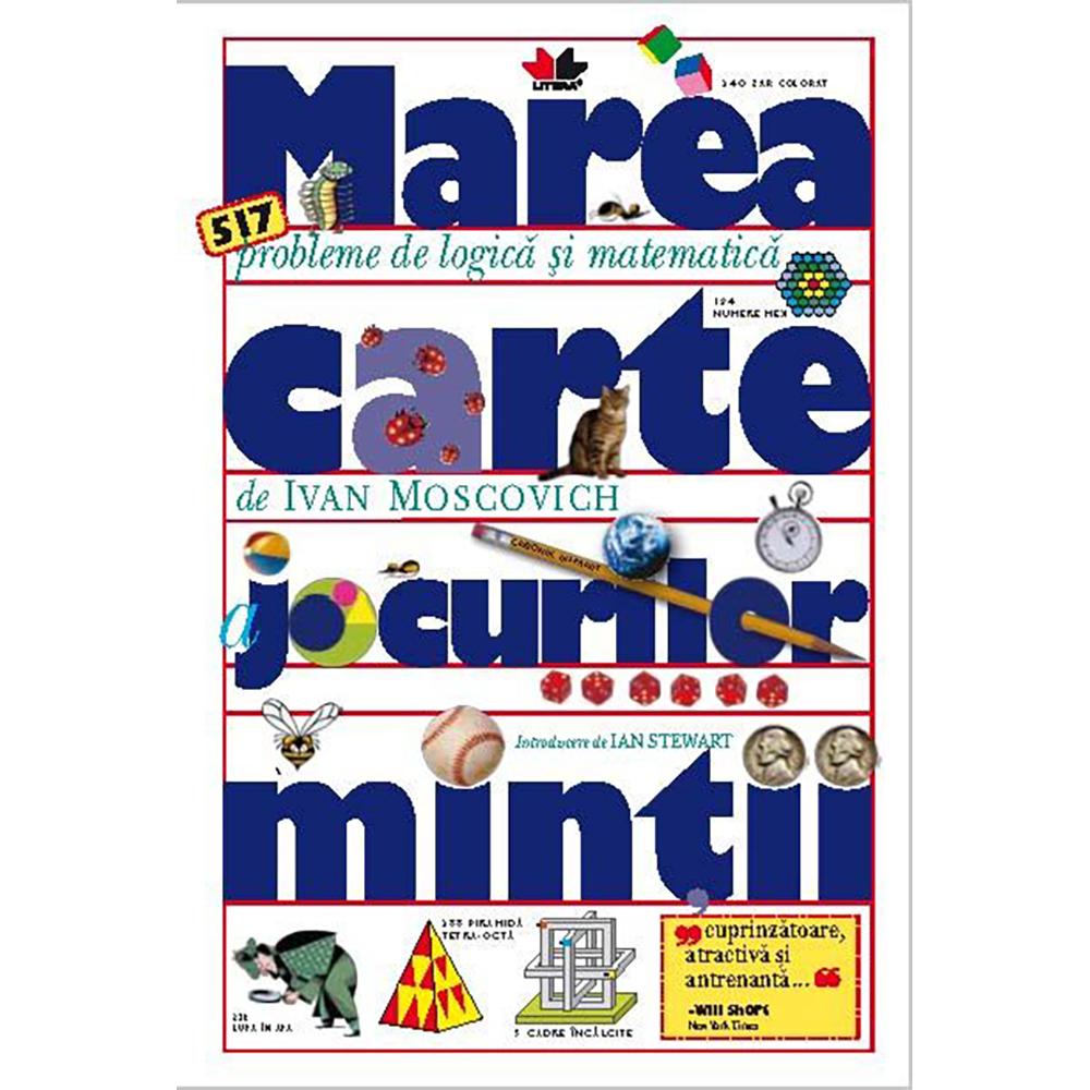 Carte Editura Litera, Cartea jocurilor mintii, Editie de buzunar