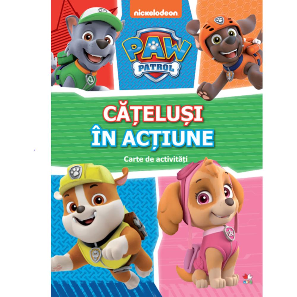 Carte Editura Litera, Patrula Catelusilor, Catelusi in actiune, Carte cu activitati