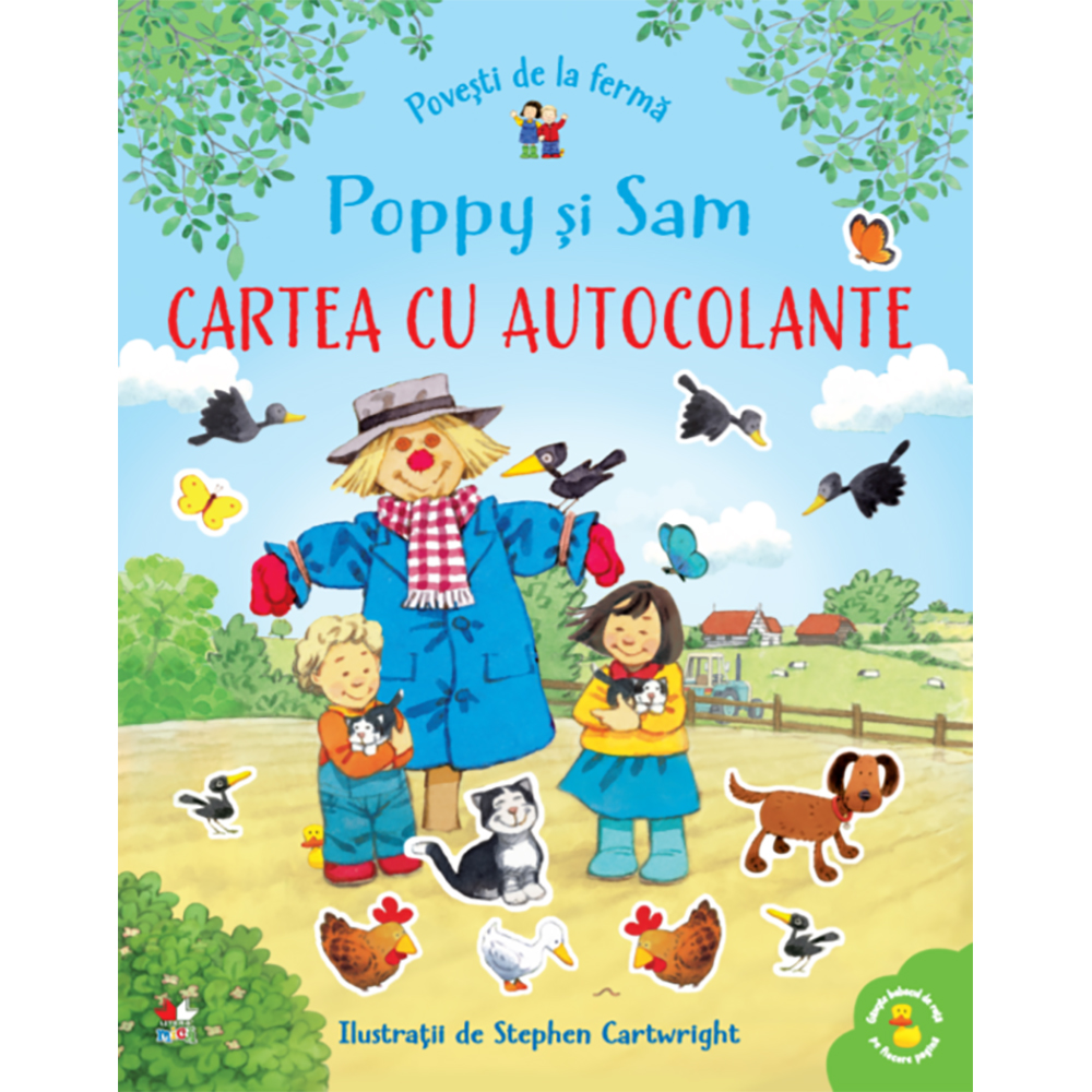 Carte Editura Litera, Povesti de la ferma. Poppy si Sam. Cartea cu autocolante