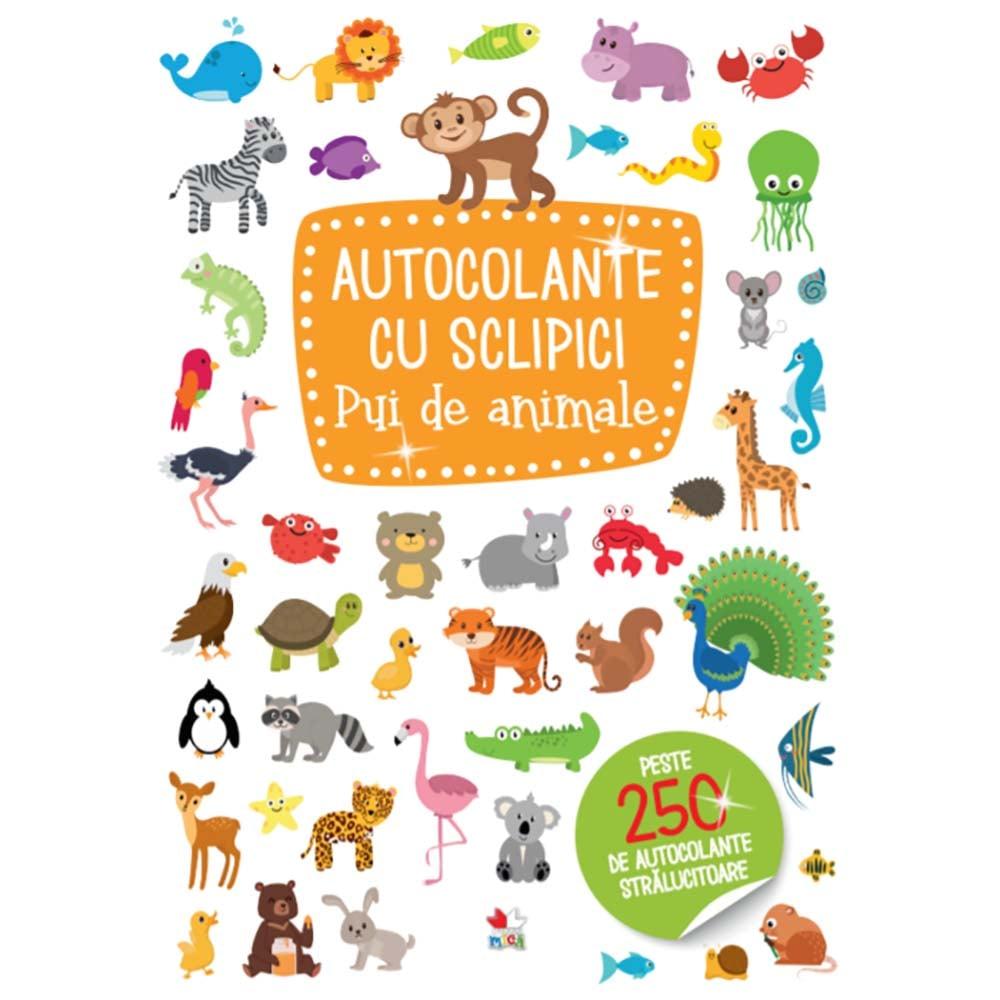 Carte Editura Litera, Autocolante cu sclipici. Pui de animale