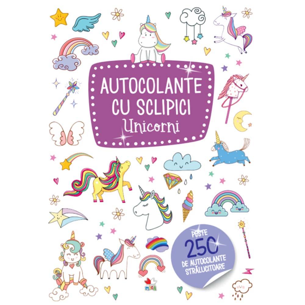 Carte Editura Litera, Autocolante cu sclipici. Unicorni