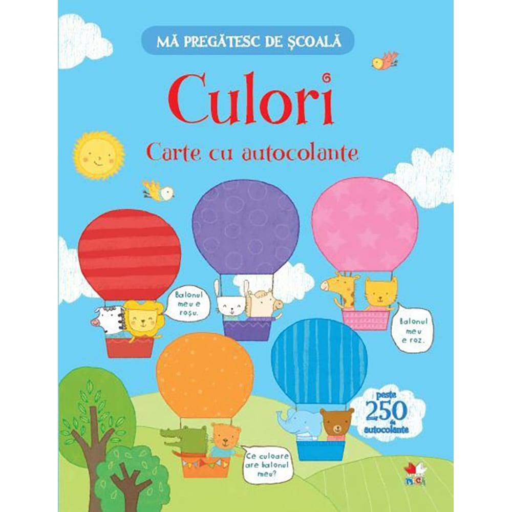 Carte Editura Litera, Ma pregatesc de scoala. Culori. Carte cu autocolante