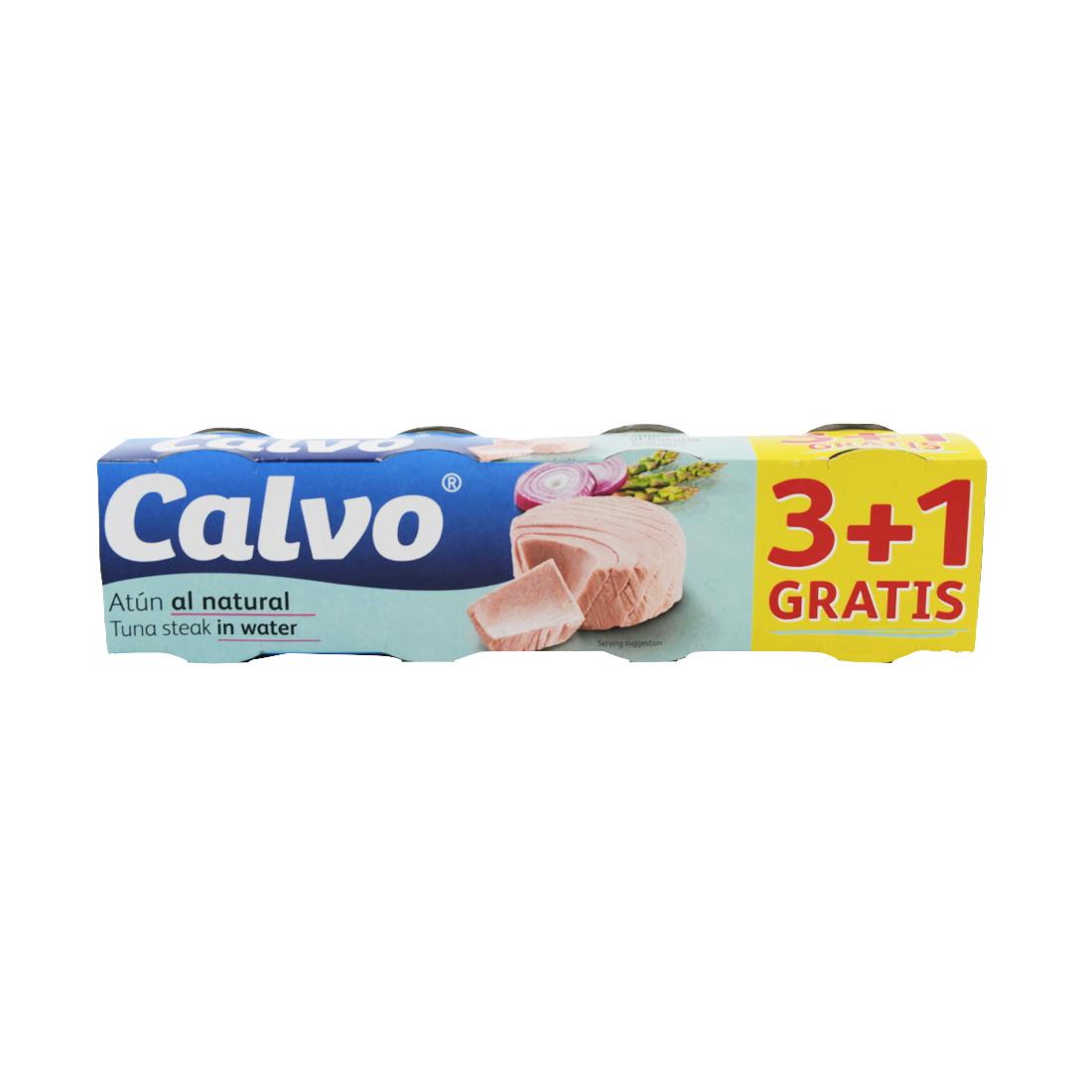 Ton in sos natur Calvo, 4 x 80 g