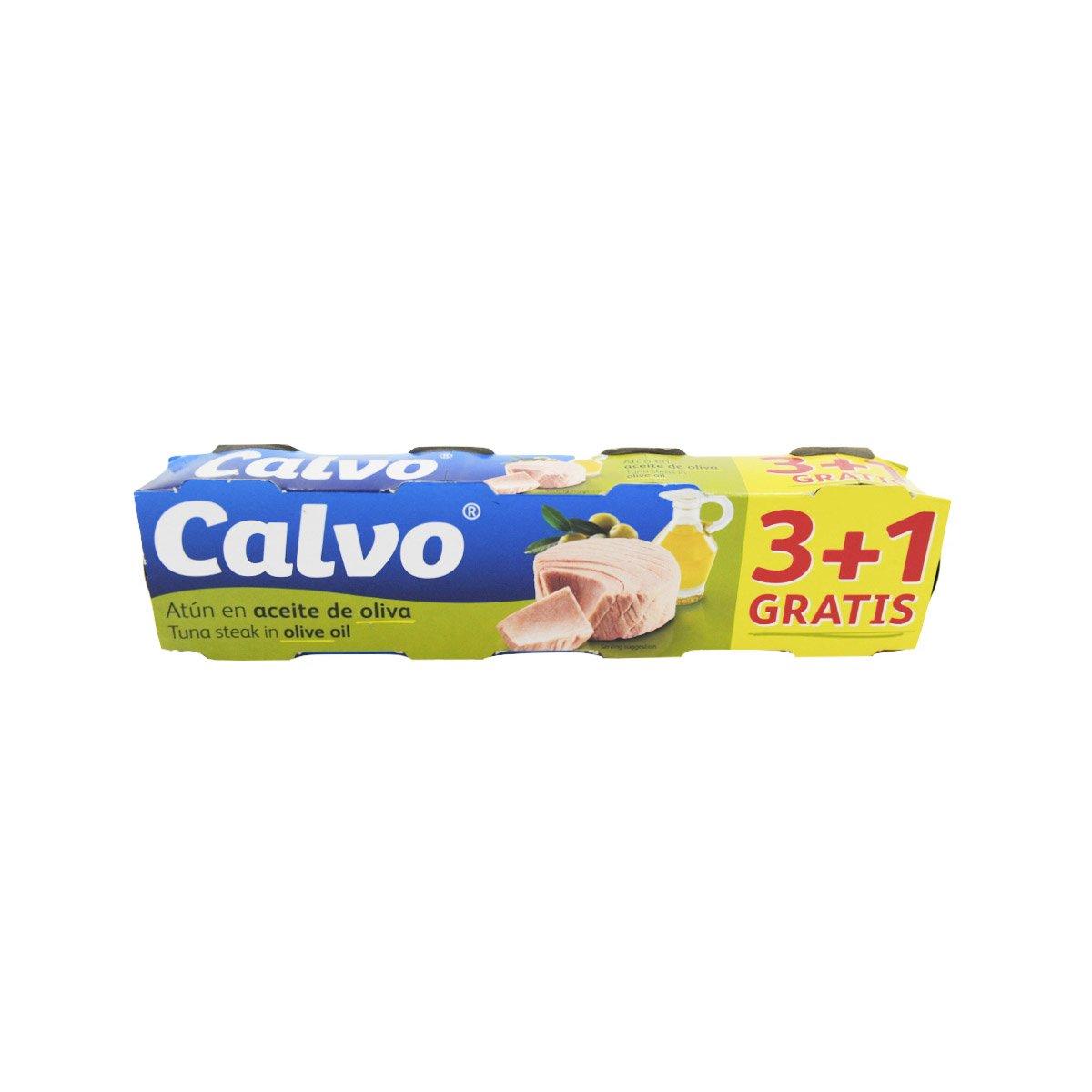 Ton in ulei de masline Calvo, 4 x 80 g