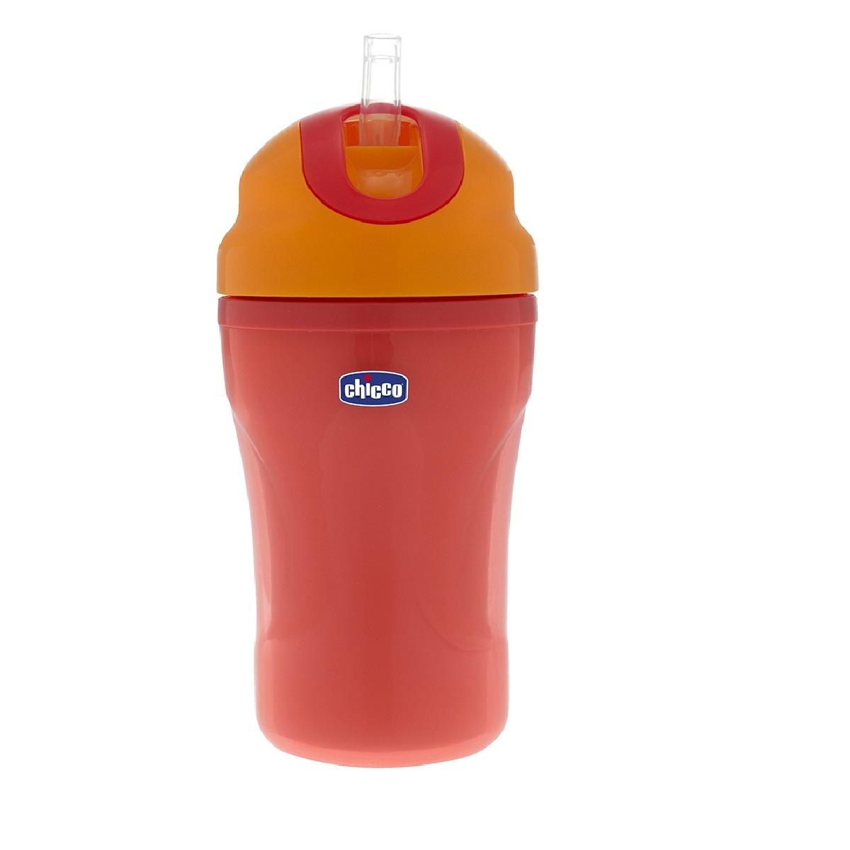 cana bebe chicco tazza passeggio, 266ml, rosu