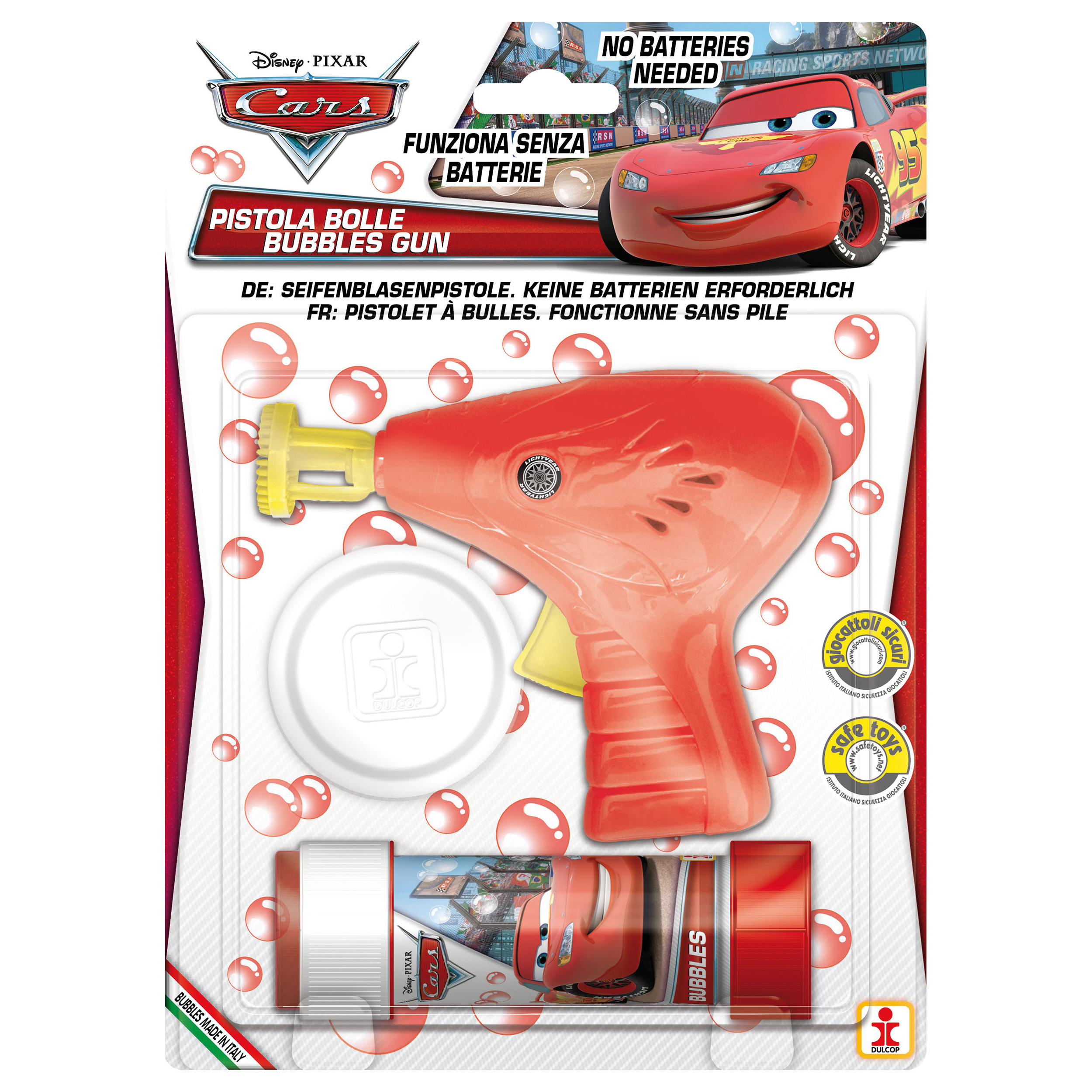 Cars - Pistol baloane de sapun, rosu