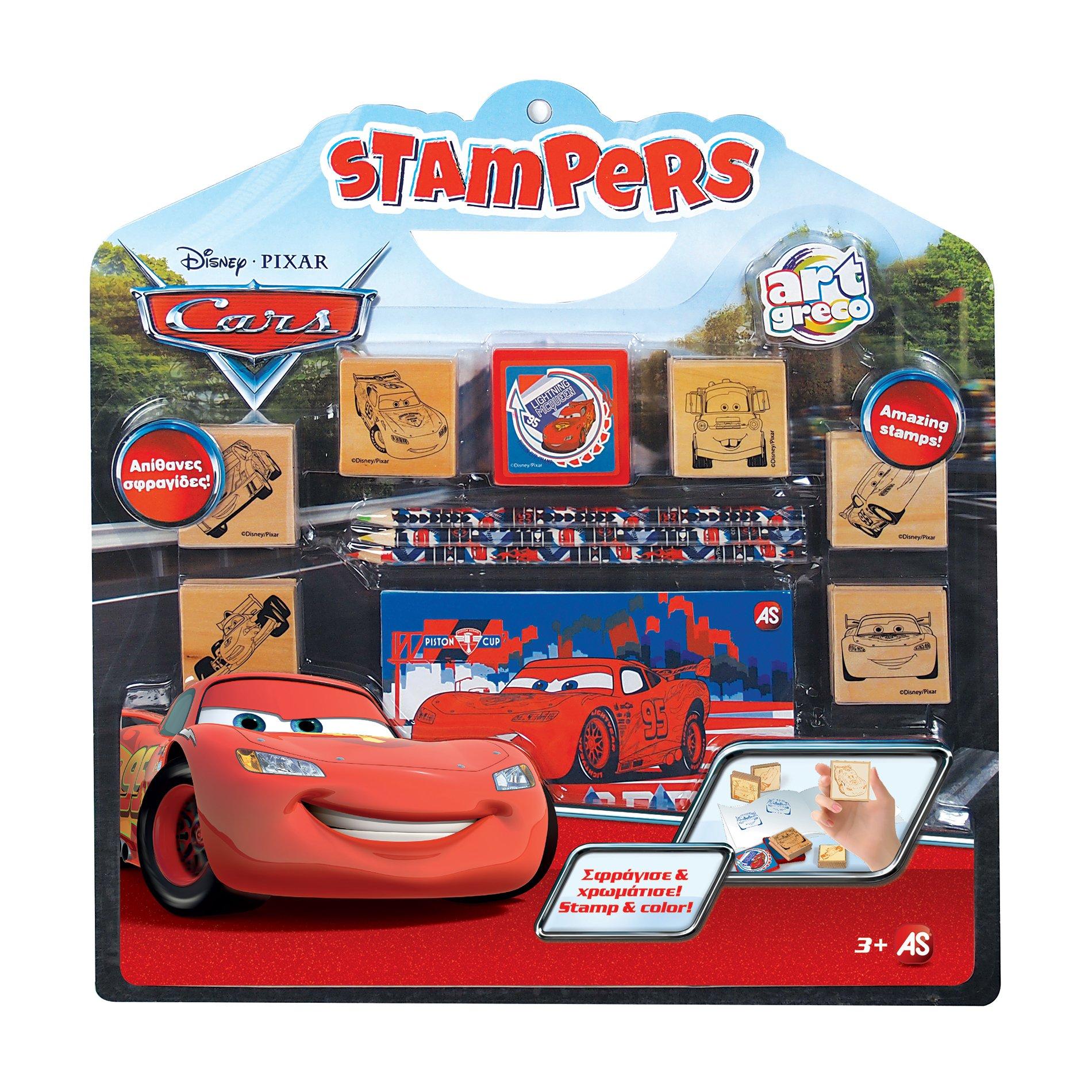 cars - set de colorat cu stampile