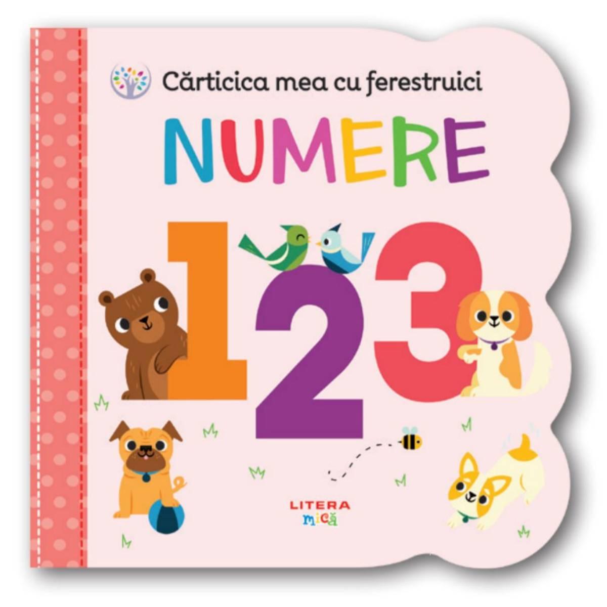 Carticica mea cu ferestruici, Numere 123, Bebe Invata