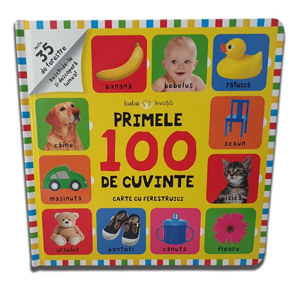 Carte Editura Litera, Bebe invata. Primele 100 de cuvinte. Carte cu ferestruici