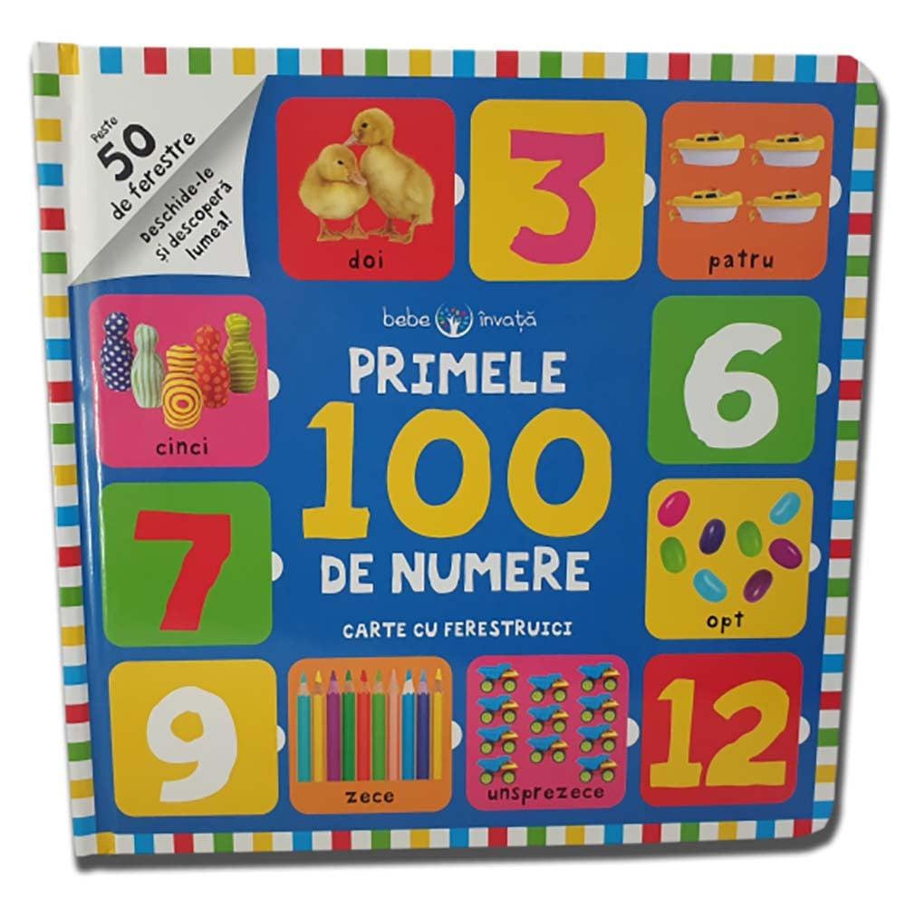 Carte Editura Litera, Bebe invata. Primele 100 de numere. Carte cu ferestruici