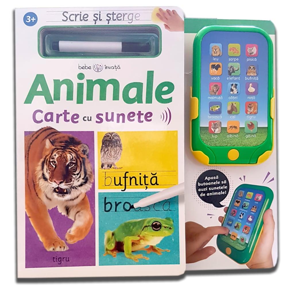 Carte Editura Litera, Scrie si sterge. Animale. Carte cu sunete