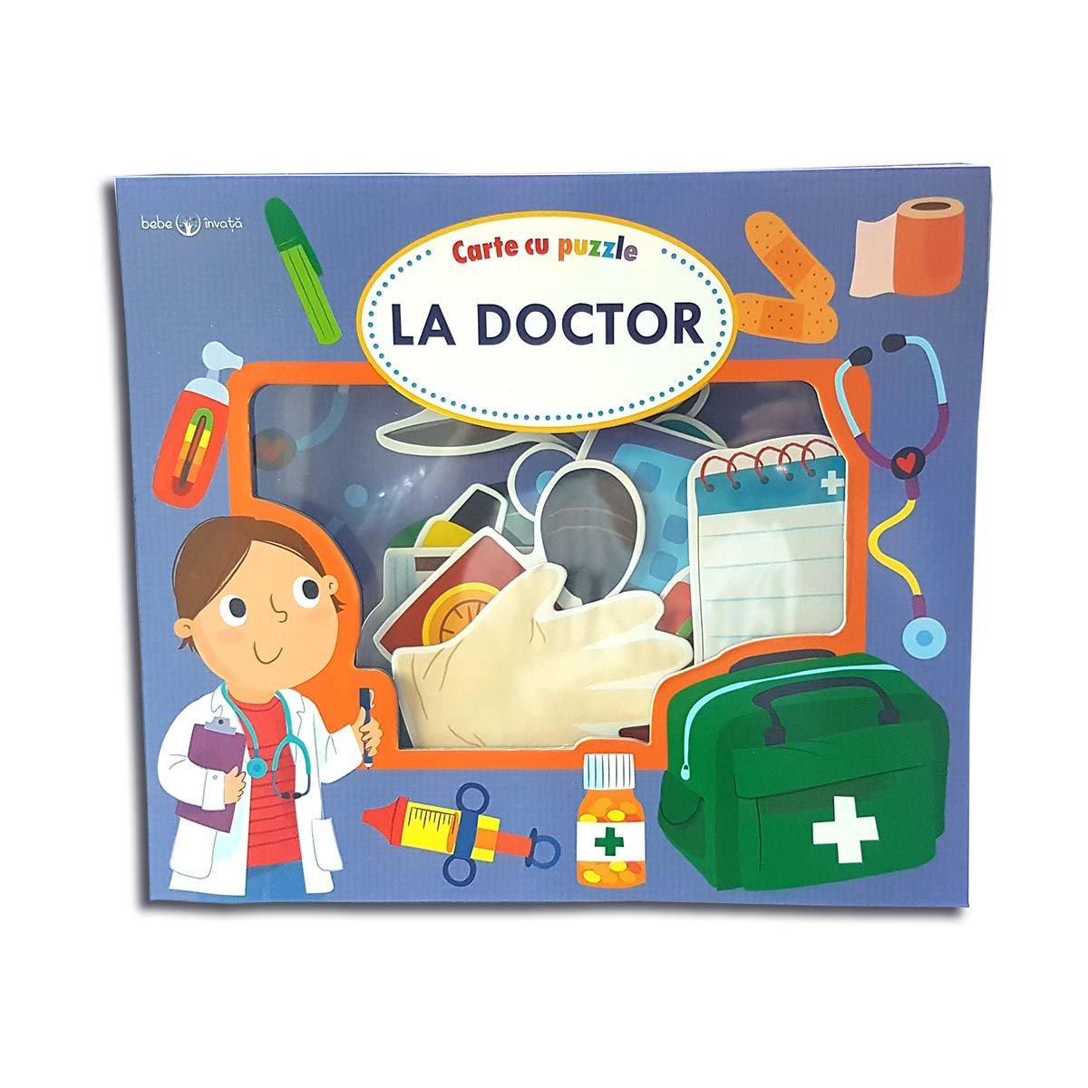 Carte cu puzzle Editura Litera, La Doctor