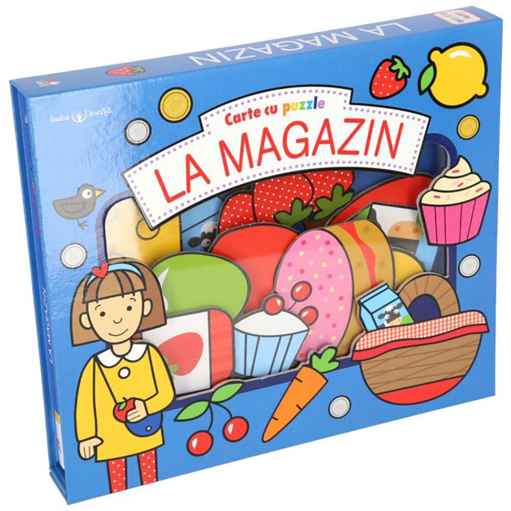 Carte Editura Litera, Carte cu puzzle. La magazin. Bebe invata imagine 2021