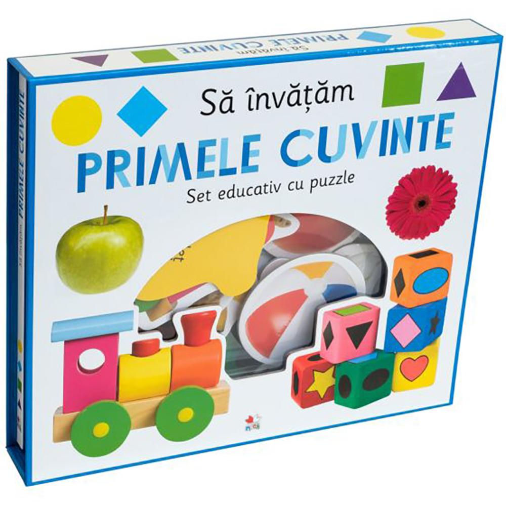 Carte Editura Litera, Sa invatam primele cuvinte. Set educativ cu puzzle