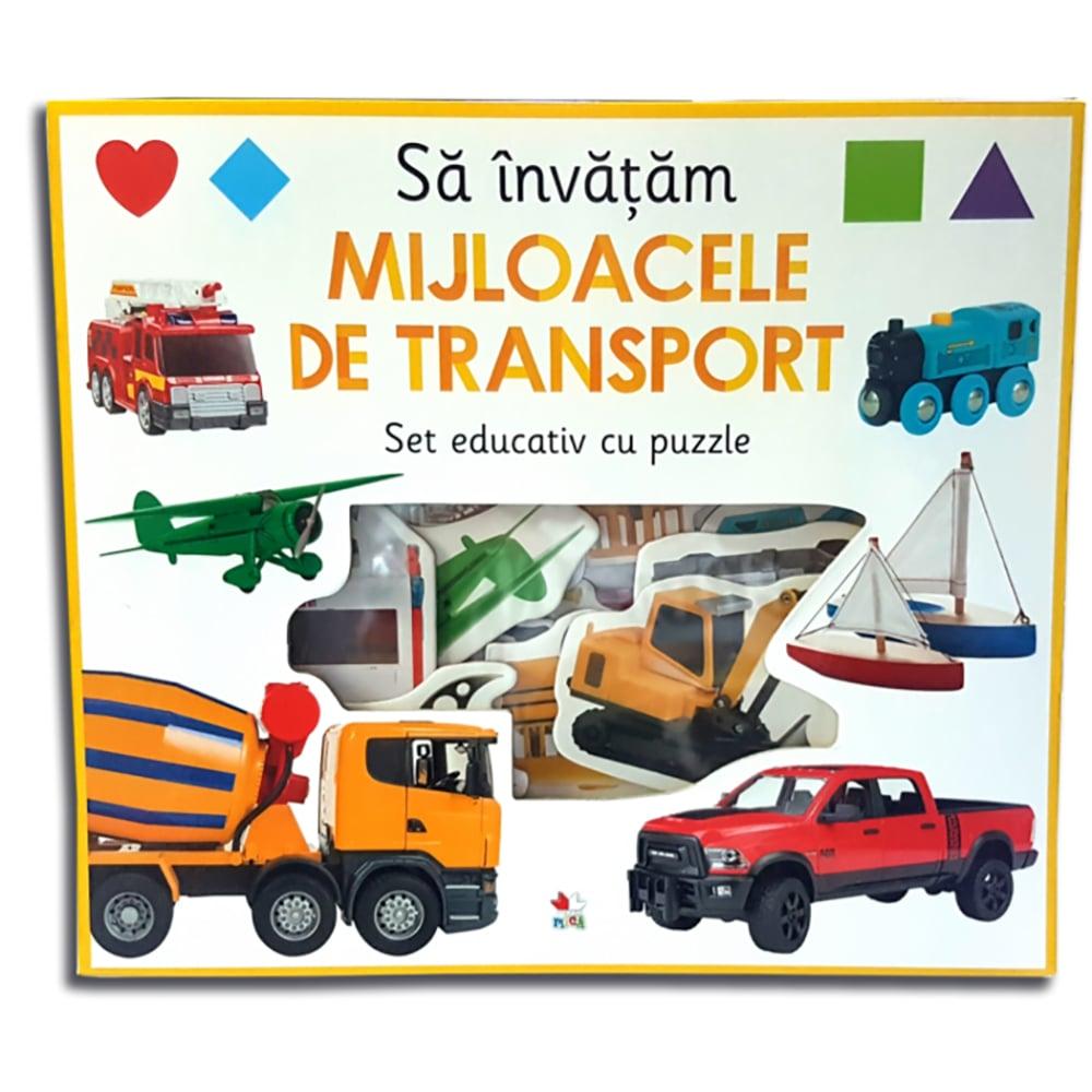 Carte Editura Litera, Sa invatam mijloacele de transport. Set educativ cu puzzle