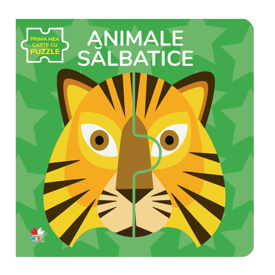 Carte Editura Litera, Animale salbatice, Carte cu puzzle
