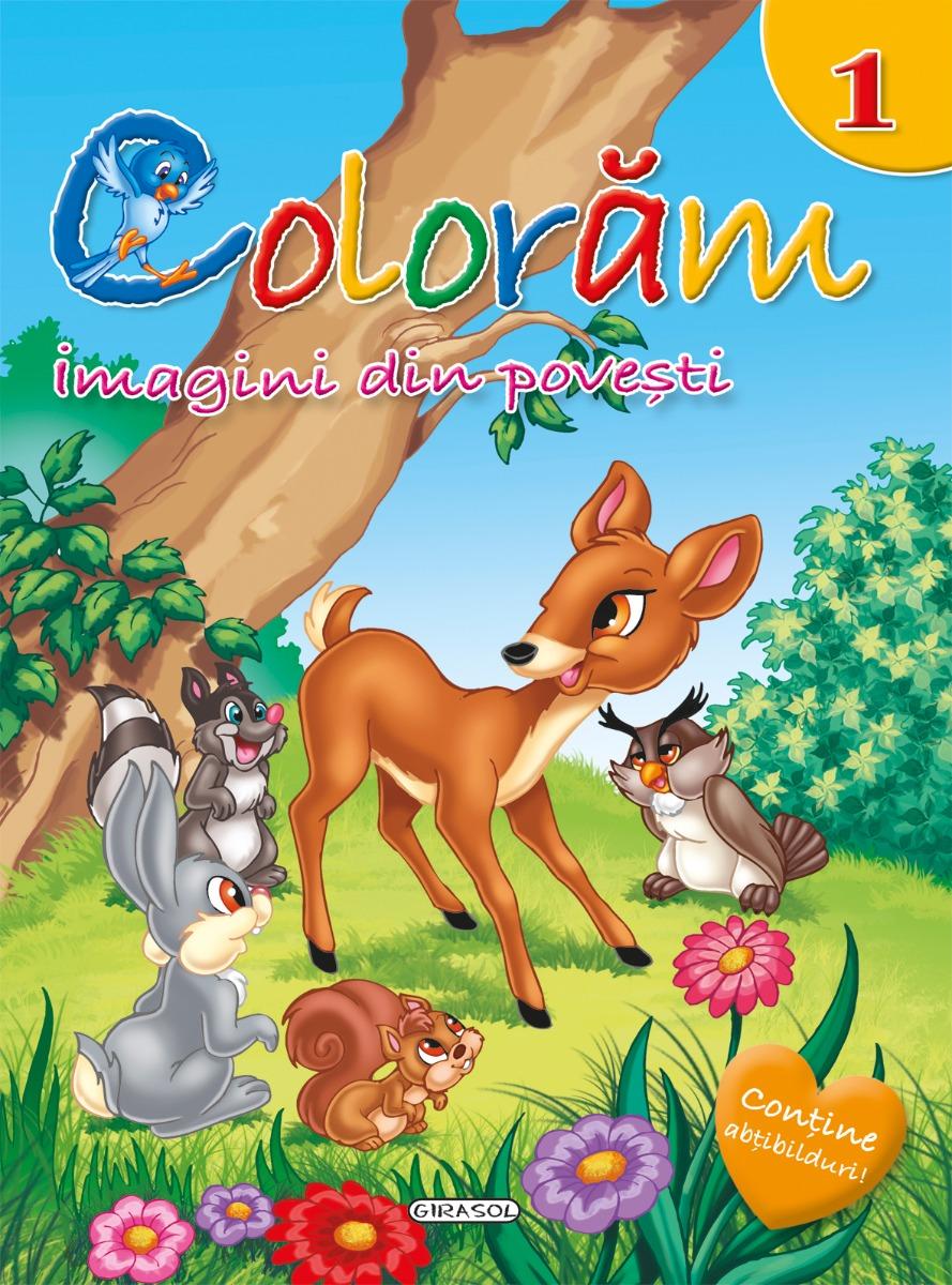 Carte de colorat editura Girasol - Imagini din poveste 1