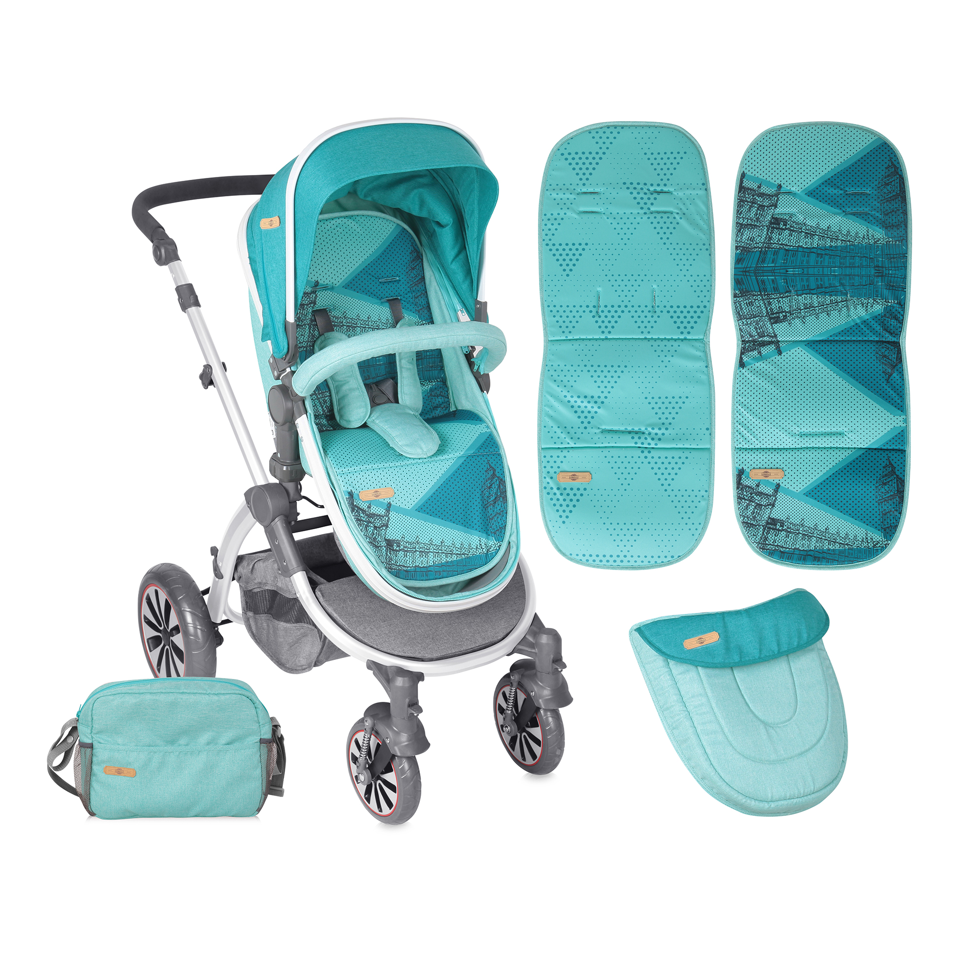 carucior copii 2 in 1 lorelli premium aurora london - aquamarine