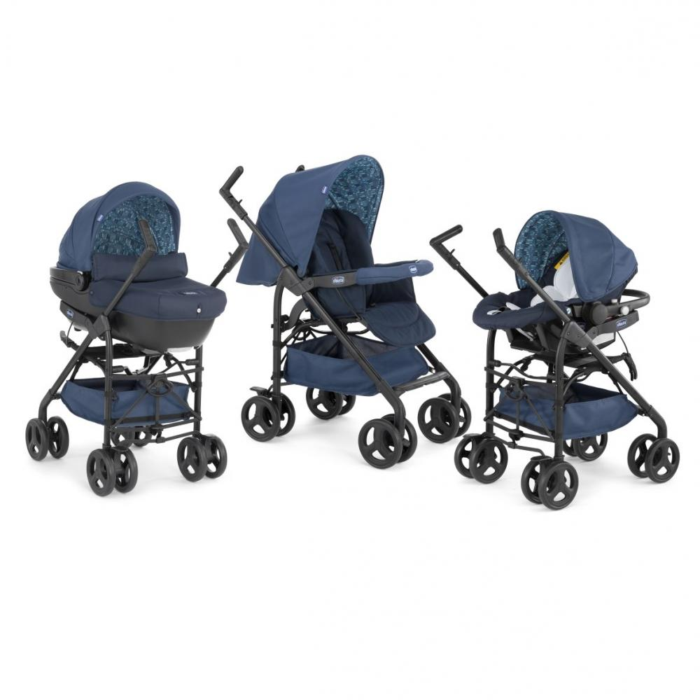carucior copii 3 in 1 chicco trio sprint - midnight