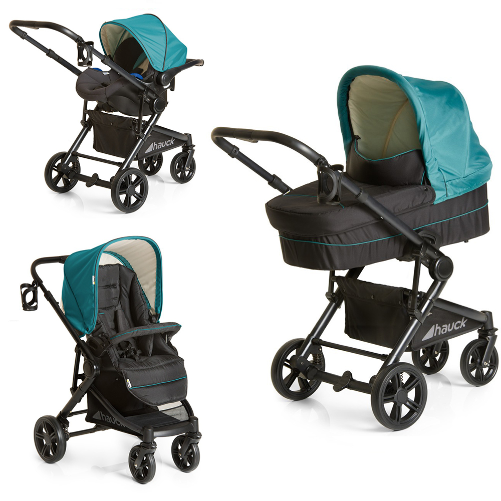 carucior copii 3 in 1 hauck - atlantic plus trio set - everglade