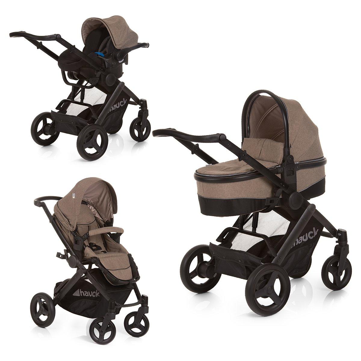 carucior copii 3 in 1 hauck maxan 4 plus set trio - melange sand