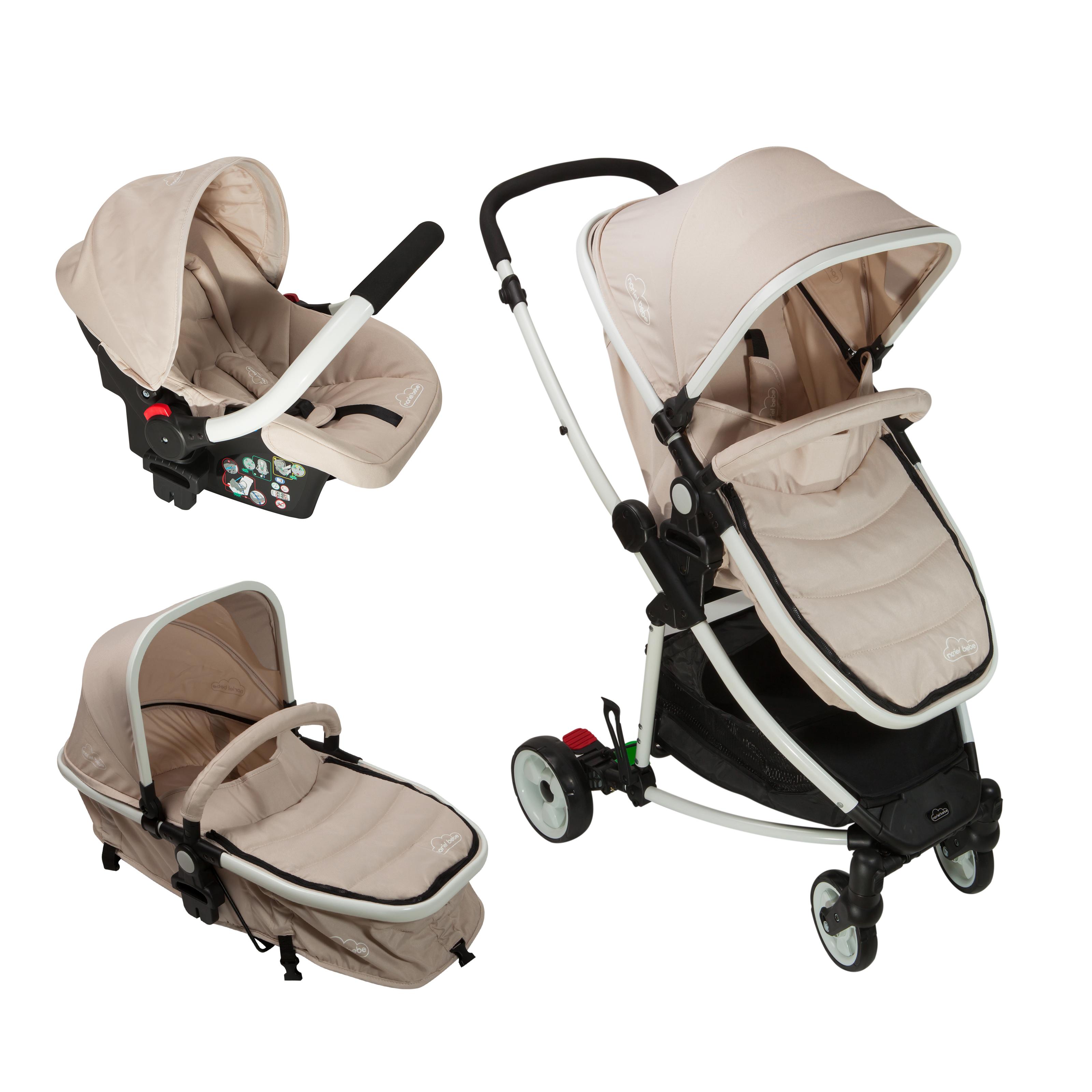 carucior copii 3 in 1 noriel bebe - bej