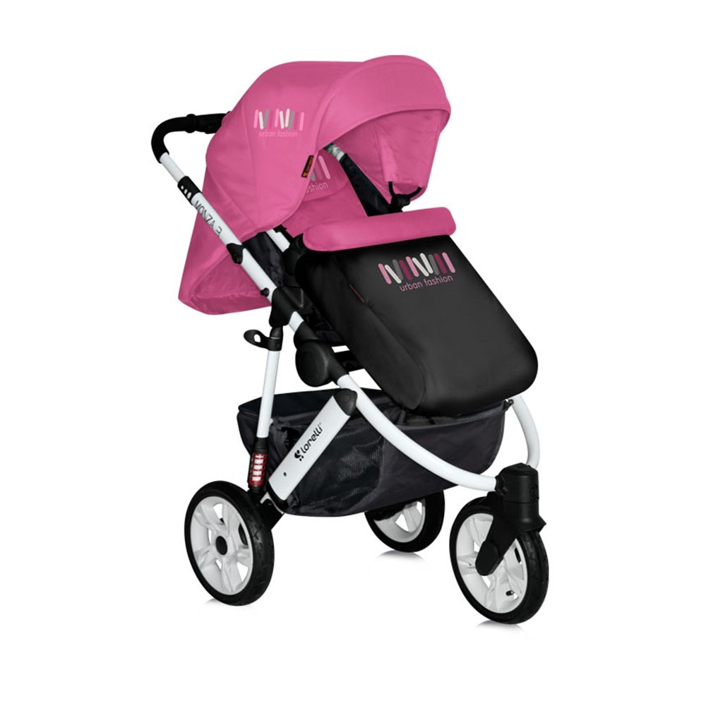 carucior sport monza 2 in 1 rose black