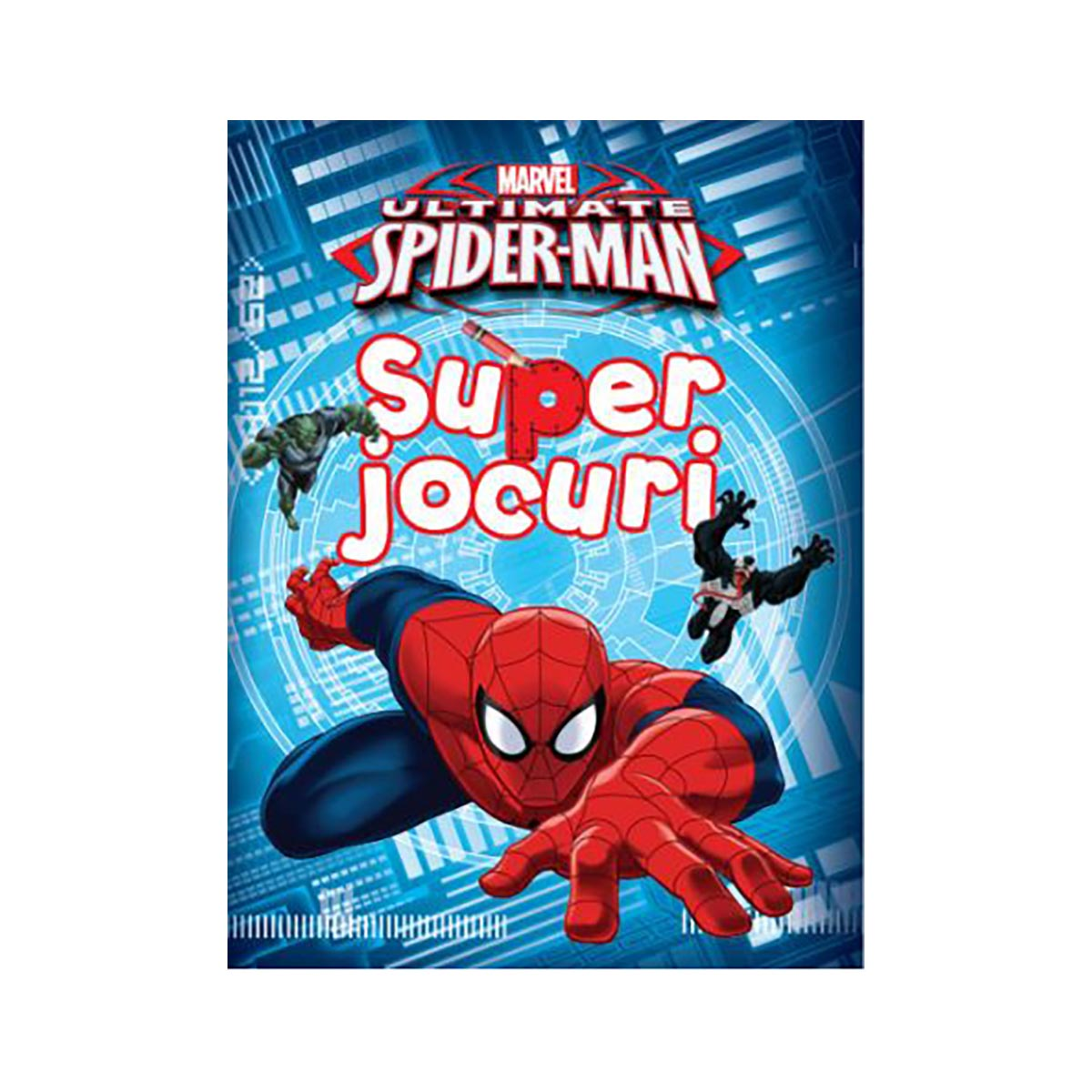 Carte cu activitati Super Jocuri, Ultimate Spiderman, Marvel