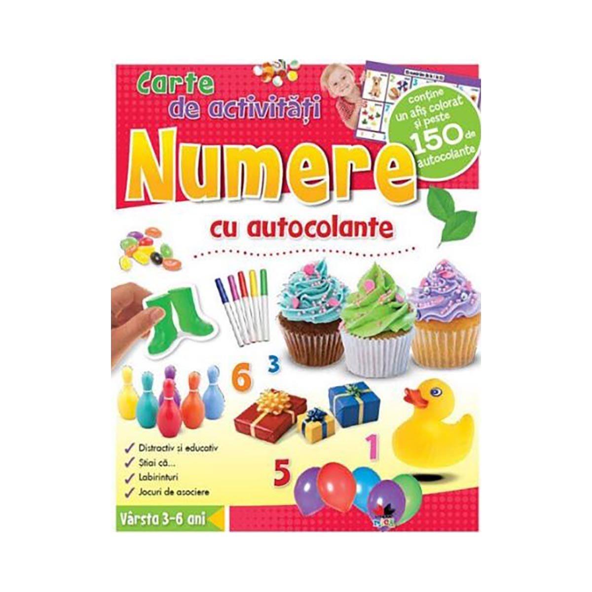 Carte de activitati cu autocolante Editura Litera, Numere