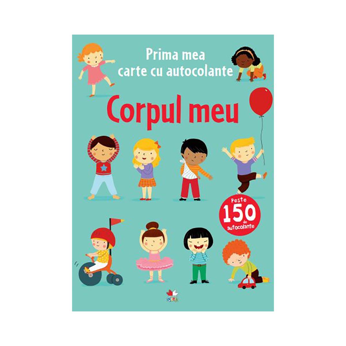 Carte cu autocolante Editura Litera, Corpul meu