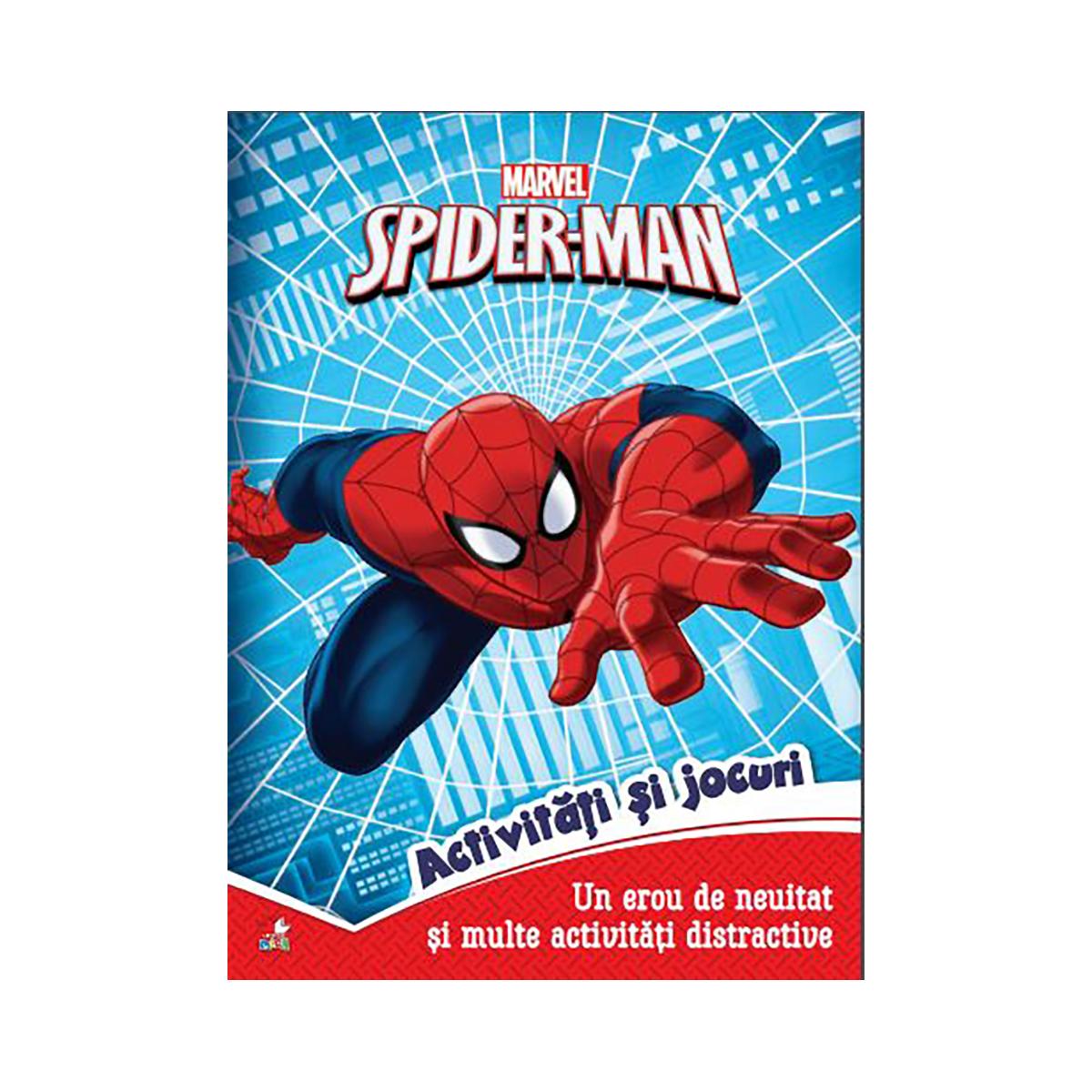 Carte cu activitati si jocuri Spiderman, Marvel