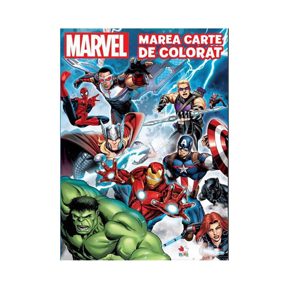 Marea carte de colorat, Marvel