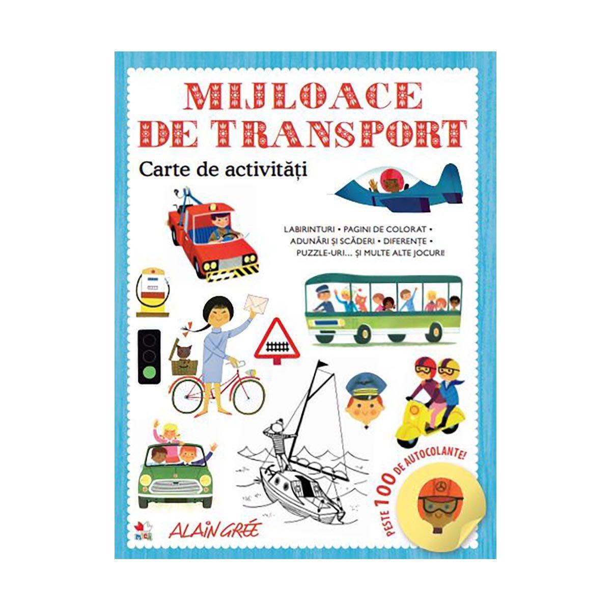 Carte de activitati Editura Litera, Mijloace de transport imagine 2021