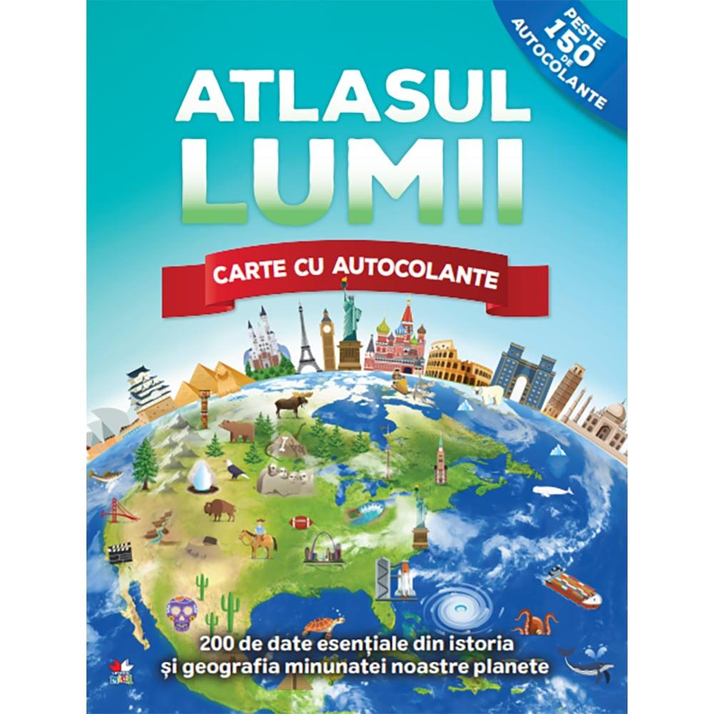 Carte Editura Litera, Atlasul lumii. Carte cu autocolante