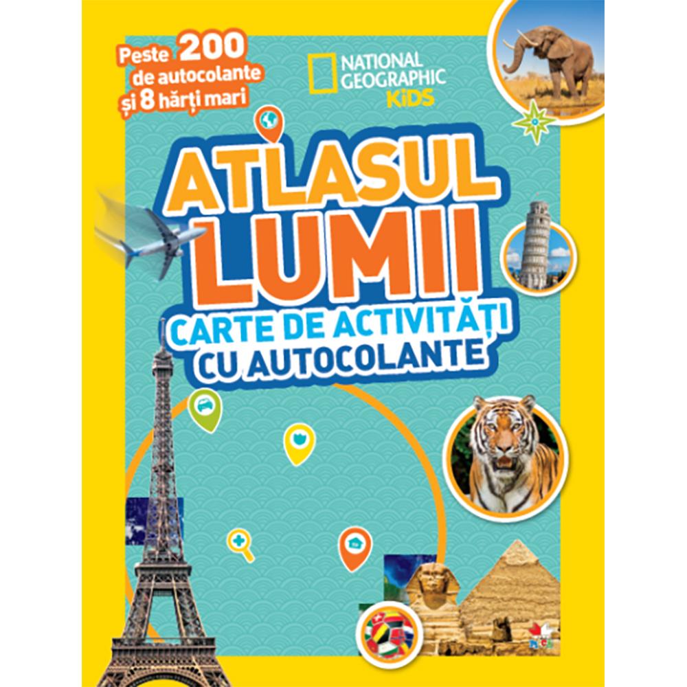 Carte Editura Litera, Atlasul lumii. Carte de activitati cu autocolante