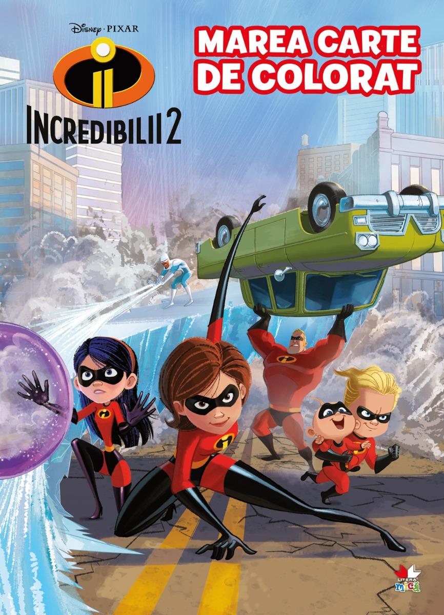 Marea carte de colorat Incredibilii 2, Disney