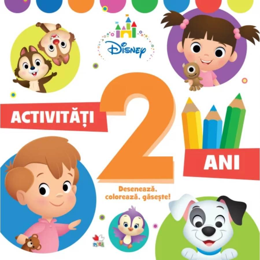 Activitati pentru 2 ani, Disney, Deseneaza, Coloreaza, Gaseste