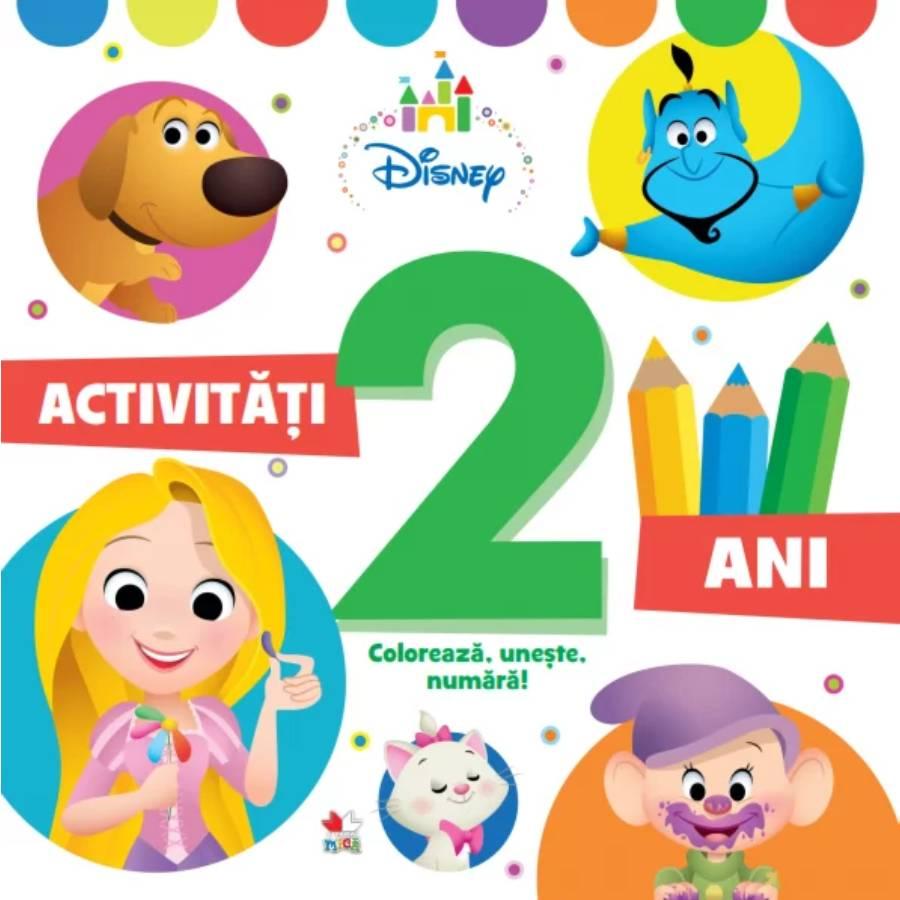 Activitati pentru 2 ani, Disney, Coloreaza, Uneste, Numara