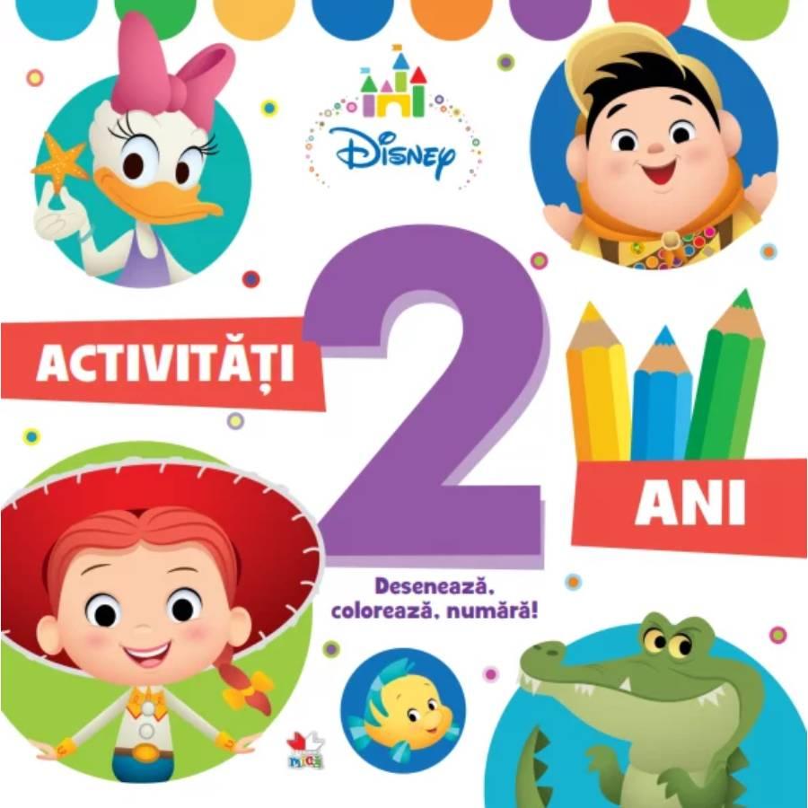Activitati pentru 2 ani, Disney, Deseneaza, Coloreaza, Numara