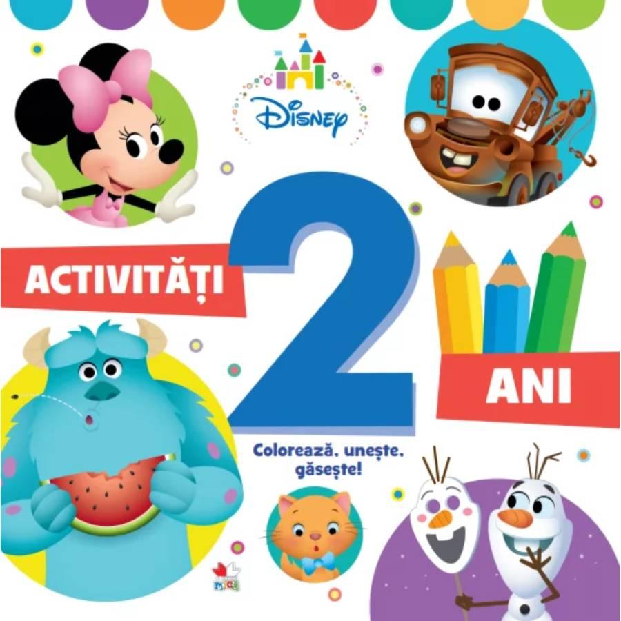 Activitati pentru 2 ani, Disney, Coloreaza, Uneste, Gaseste