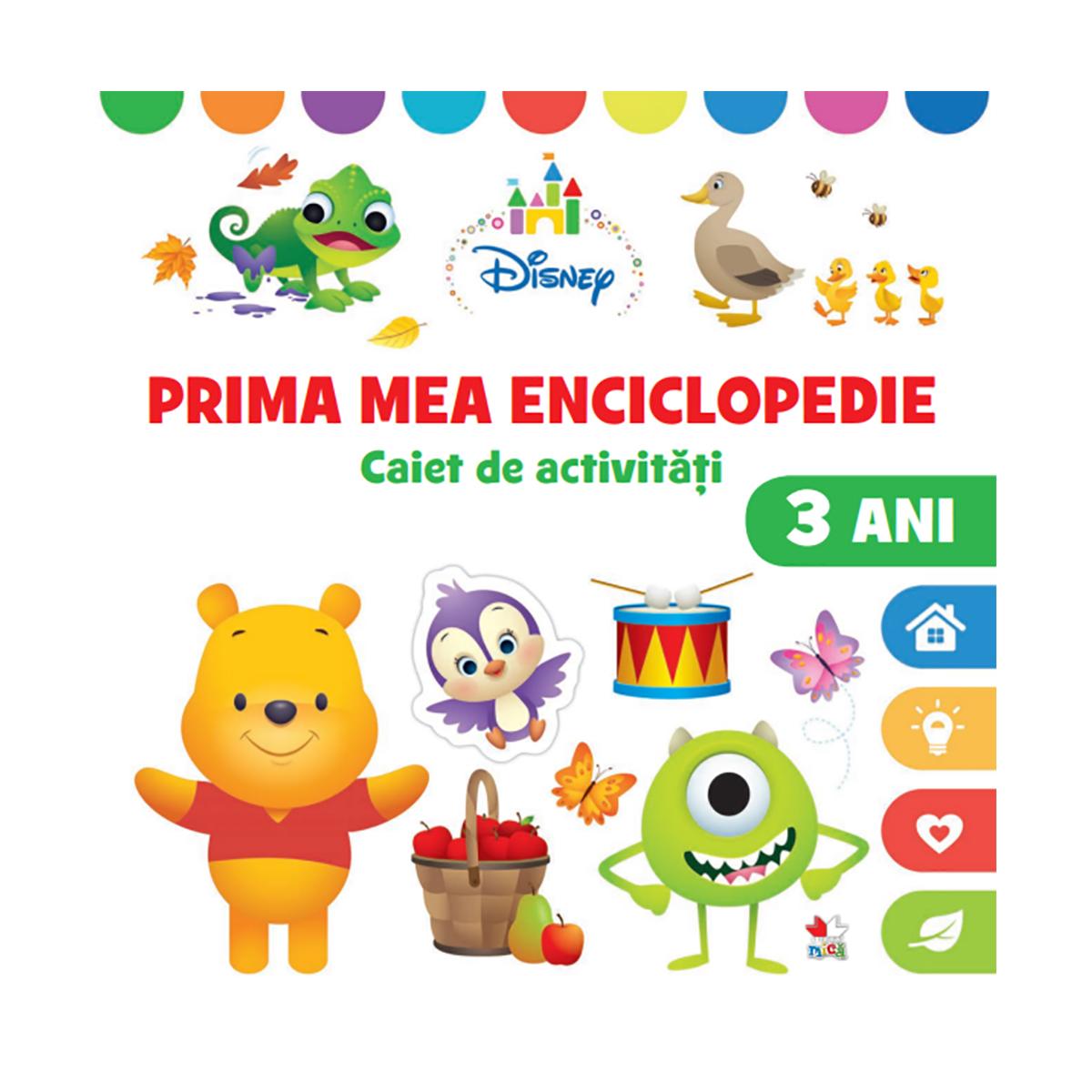 Carte Editura Litera, Prima mea enciclopedie, Caiet de activitati, 3 ani