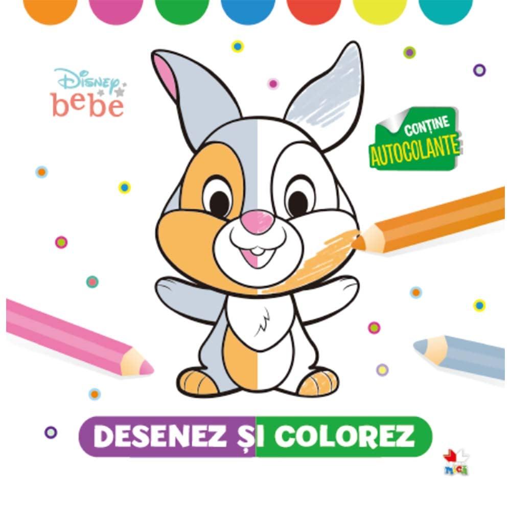 Carte Editura Litera, Disney Bebe, Desenez si colorez