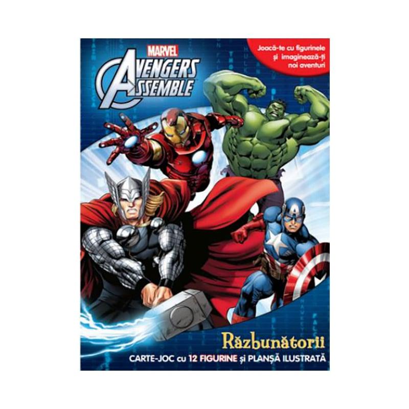Carte joc cu figurine Marvel Avengers Assemble, Razbunatorii