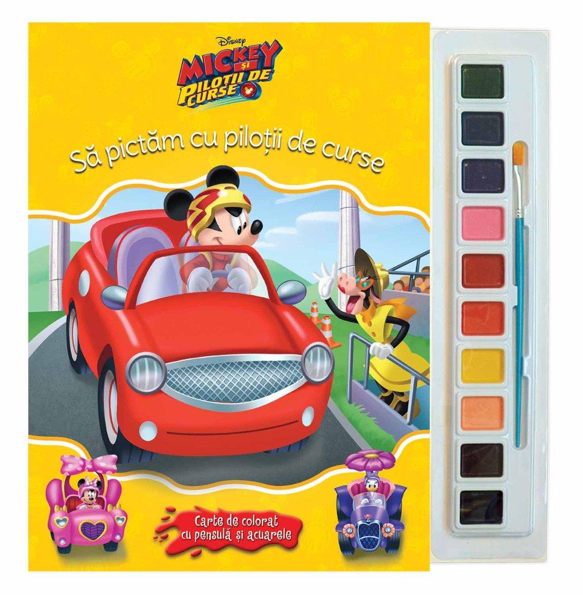 Carticica de colorat Mickey si pilotii de curse, Disney