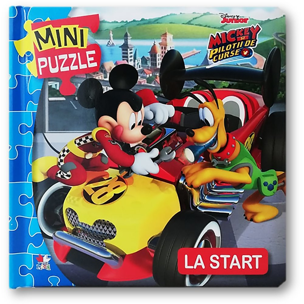 Carte Editura Litera, Disney junior. Mini puzzle. Mickey si pilotii. La start