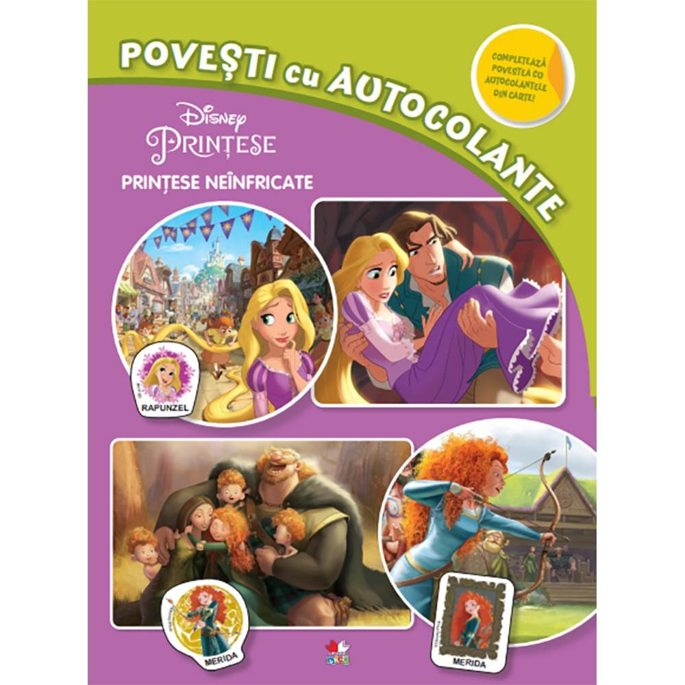 Carte Editura Litera, Disney. Printese neinfricate. Povesti cu autocolante