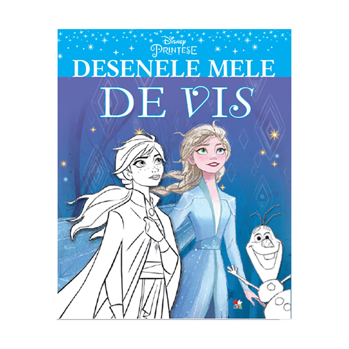 Carte de colorat, Desenele mele de vis, Disney Frozen 2
