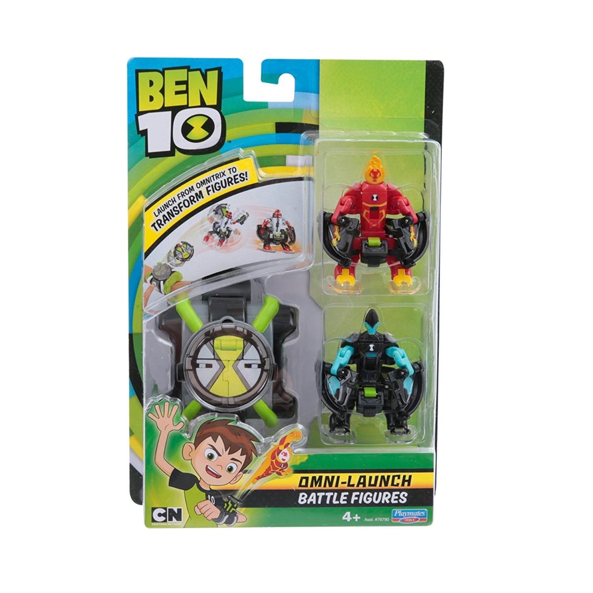 Set ceas Ben 10 omnitrix lansator cu 2 figurine XLR8 si Torta vie